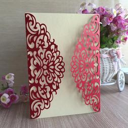 30pcs Glossy Pearl Paper Wedding Invitations <font><b>Decora