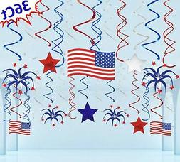 Moon Boat 36 Ct Fourth of July Patriotic Decorations Hanging
