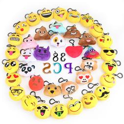 38 Pack Emoji Kids Party Supplies Favors Emoji Keychain Deco