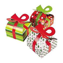 3D Christmas Gift Boxes With Bow - Party Favor & Goody Bags