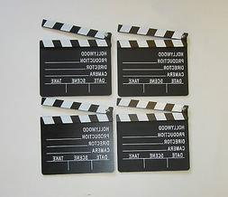 4 NEW MOVIE DIRECTOR'S CLAPBOARD PROP HOLLYWOOD CLAPPER CHAL