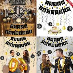 40Th Birthday Decorations Kit For Men & Women 40 Years Old P