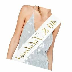 ADBetty 40th Birthday Sash Fabulous 40 Sash 40th Birthday Pa