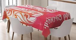 40th Birthday Tablecloth Ambesonne 3 Sizes Rectangular Table