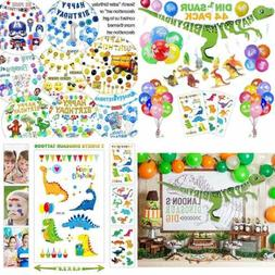 44 PACK Dinosaur Birthday Party Decorations For Kids 3D Happ