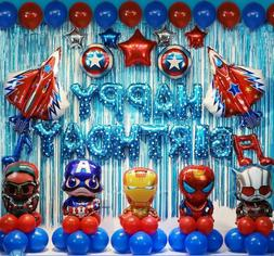 48 pcs avengers birthday party supplies decorations