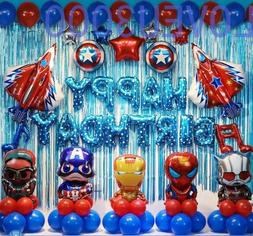 48 Pcs Avengers Birthday Party Supplies Decorations Superher