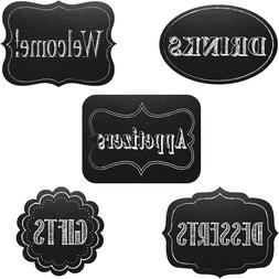 5 Chalkboard Cutouts Personalize Decorations Wedding Baby Sh