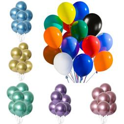 50/100PCs Metallic Latex Party Balloons 12in For Birthday We