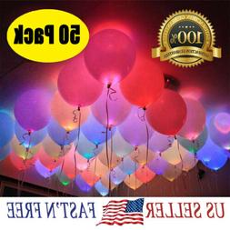 50-150 Pack LED Balloons Light Up Balloons Wedding Decoratio