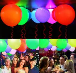 50 Pack LED Light Up Balloons, for Party Birthday Wedding Fe