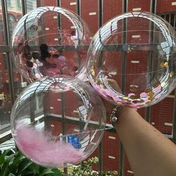 50PCS Clear Bubble Balloons Wedding Birthday Party Decoratio