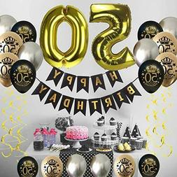 50th Birthday Decorations for Men Women Supplies Favors Part