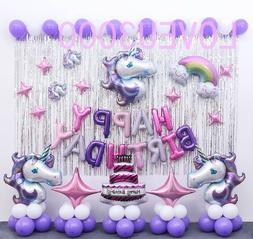 Unicorn Birthday party Supplies Unicorn Balloons Set Unicorn