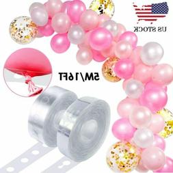 5m Balloon Chain Tape Arch Frame Connect Strip Wedding Birth