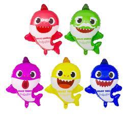 5pc Baby Shark Family Helium Foil Balloons  Kids Birthday Pa
