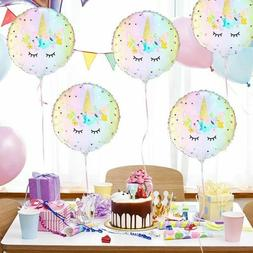 5pcs 18''Unicorn Theme Foil Balloon Kids Birthday Party Supp
