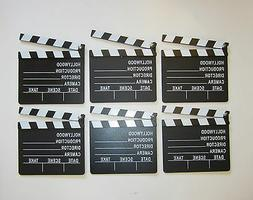 6 NEW MOVIE DIRECTOR'S CLAPBOARD PROP HOLLYWOOD CLAPPER CHAL