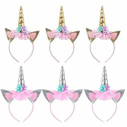 6 pack unicorn headbands party favors supplies decorations f
