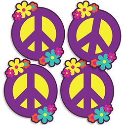 60's Hippie - Peace Sign Decorations DIY 1960s Groovy Party