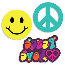 Big Dot of Happiness 60's Hippie - DIY Shaped 1960s Groovy P