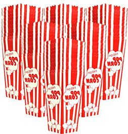 60 Individual Disposable Popcorn Boxes with Old Fashion Vint