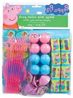 60Pc PEPPA PIG Birthday Mega Mix Value Favors Pack Party Dec