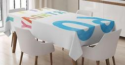 60th Birthday Tablecloth Ambesonne 3 Sizes Rectangular Table