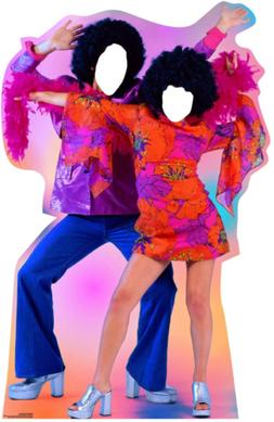 Advanced Graphics 70's Dance Couple Stand-in Life Size Cardb