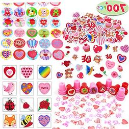 700+ Pcs Happy Valentines Day Party Favor Supplies Craft Set