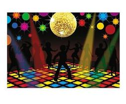 70s Funky Disco Saturday Night Fever Party Decoration Wall B