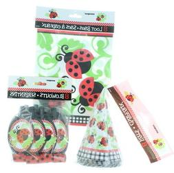 8 Kid Ladybug Party Favor Kit Hats Blowouts Loot Bags Birthd