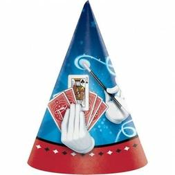 8 Magician Magic Happy Birthday Paper Party Cone Hats