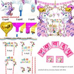 82 Pcs Unicorn Party Supplies Pack Decoration Birthday Gifts