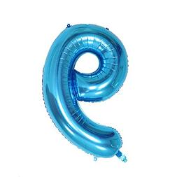 Ruimeier Number 9 Balloon  Blue Digital Party Balloons Alumi