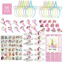96 Pack Unicorn Kids Party Favors - Unicorn Party Supplies B