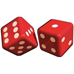 Amscan Inflatable Dice Casino Party Decoration , Red/White,