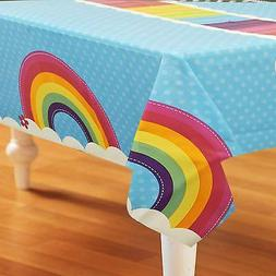 BirthdayExpress Rainbow Wishes Party Supplies - Plastic Tabl