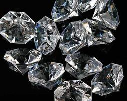 Pkg of 24 Clear 25 Carat Acrylic Diamonds with Super Big Bli