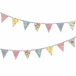 Talking Tables Tea Party Decorations Floral Banner Bunting |