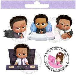 African American Boss Baby Centerpieces Cut Outs Centerpiece