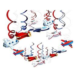 CC HOME Airplane Party Supplies,Airplane Hanging Swirl Decor