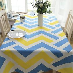 American Style Ripple Decorative Table Cloth Cotton Linen La