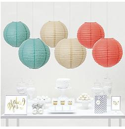 Andaz Press Hanging Paper Lantern Party Decor Trio Kit with