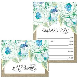 Any Occasion Invitations & Matching Thank You Notes Set with