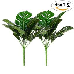 Artiflr Artificial Plant Monstera Deliciosa Decor 2 Bundles
