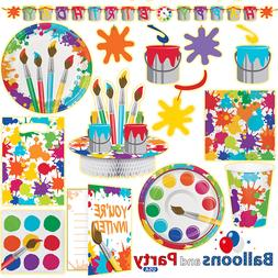 Arts & Crafts Painting Birthday Party Tableware Decorations