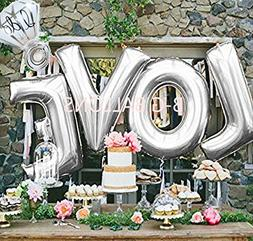 B-G LOVE  and I Do Diamond Ring  Extra Large Balloon Set, In
