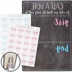 Juvale Baby Gender Reveal Board with Stand and Voting Sticke
