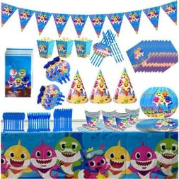 Baby Shark Party Supplies Birthday Decoration Tableware Comp